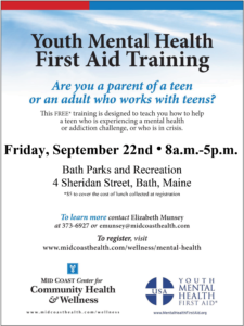 Register Now for September Youth Mental Health First Aid Training