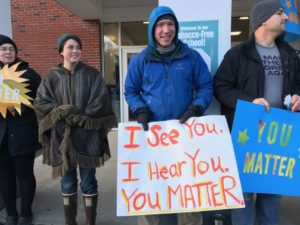 Bath Middle Schoolers greeted with 'You Matter' message