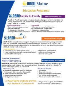 NAMI Maine Education Flyer