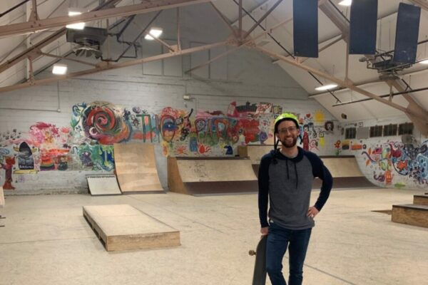 Bobby Gray, a skateboarder and educator in MSAD 75, will be leading the education programming at the Bath skate park. He said he believes the setting of the skate park will help students feel comfortable and confident enough to finish their education. Photo courtesy of Merrymeeting Adult Education